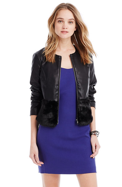 Sleek Faux Fur Jacket