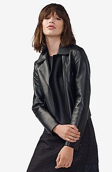 Faux-Leather Moto