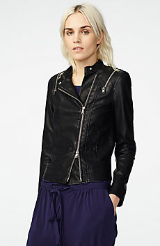 Zip Detail Moto Jacket