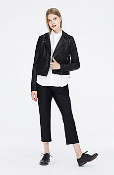 Leather Look Moto Jacket