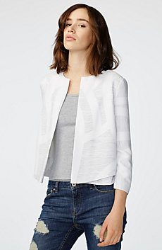 Tiered Collarless Jacket