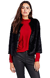 Cropped Faux Fur Jacket
