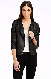 Faux Leather Jacket<br> Online Exclusive<br>