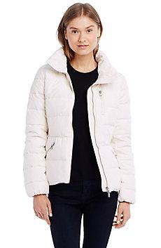 Peplum Puffer Jacket