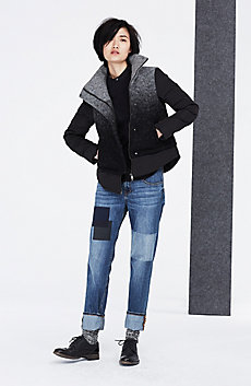 Ombre Wool Down Jacket