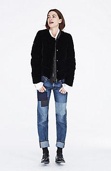 Velvet Down Puffer Jacket