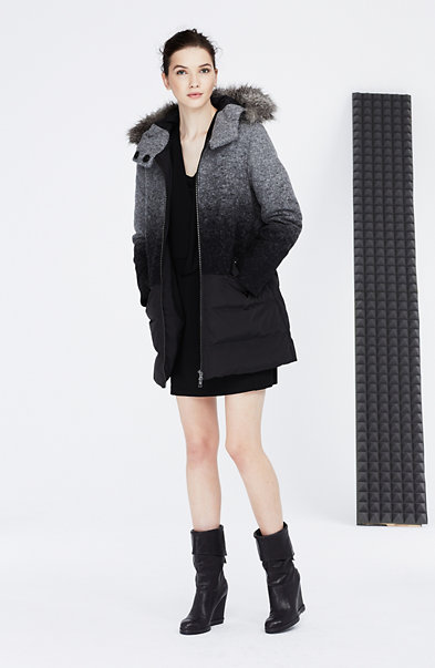 Ombre Wool Down Coat