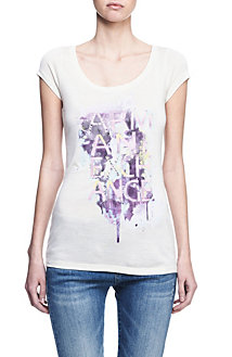 Embellished Watercolor Girl Tee