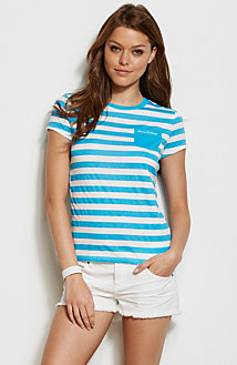 Solid Pocket Stripe Tee<br>Online Exclusive