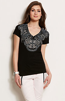 Lace Necklace Tee<br>Online Exclusive