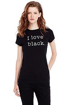 I Love Black Tee