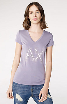 Crackle Foil Logo V-Neck