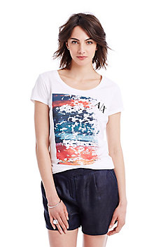 Abstract Logo Paint Tee