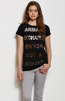 Stacked Sequins Tee