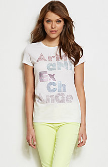 Embellished Stacked Logo Tee<br>Online Exclusive