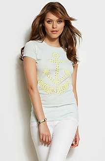 Striped Cut-Out Anchor Tee