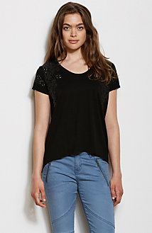 Lace Cut-Out Tee