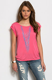 Embellished Necklace Tee<br>Online Exclusive