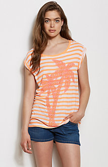 Striped Palm Tee