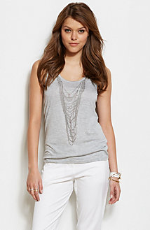 Embellished Necklace Tank