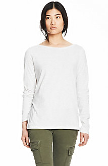 Long Sleeve Pima Boatneck Tee