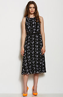 Printed Pleat Dress