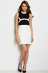 Leatherette Accent Dress