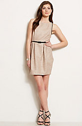 Metallic Jacquard Tulip Dress