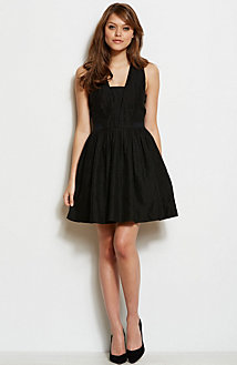 Seersucker Fit & Flare Dress<br>Online Exclusive