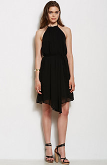 Handkerchief Hem Halter Dress