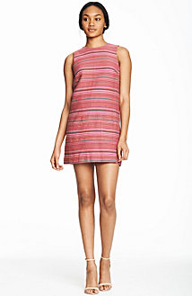 Multi Stripe Jacquard Dress