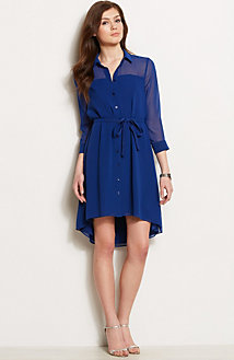 High Low Hem Shirtdress