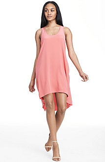 Silk Hi Low Tank Dress