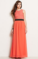 Banded Twofer Maxi Dress<br>Online Exclusive