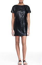 Leather Dolman Dress