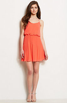 Pleated Swing Dress