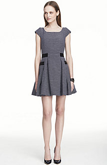 Cap Sleeve Jacquard Dress<br>Online Exclusive