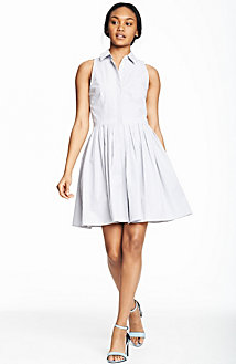 Poplin Fit and Flare Dress