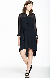 Long Sleeve Shirtdress<br>Online Exclusive