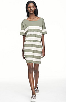 Striped Oversize Pocket Dress