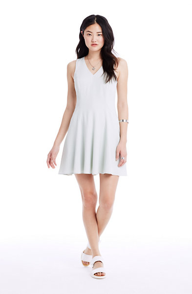 Sleeveless Crepe Skater Dress