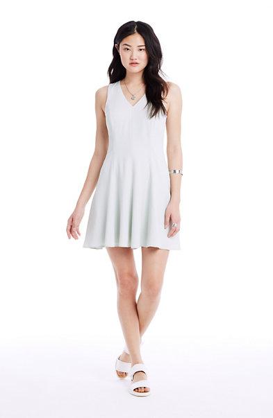 Sleeveless Crepe Skater Dress