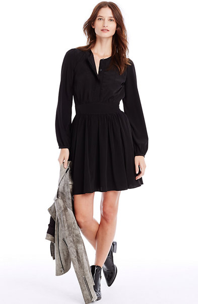 Button Front Swing Dress
