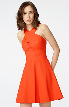Asymmetrical Scallop Dress
