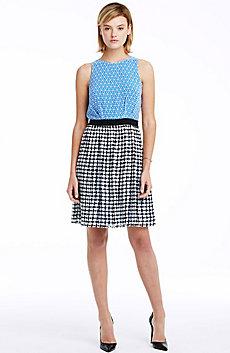 Mixed Print Sleeveless Dress