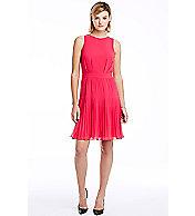 Pintuck Sleeveless Dress