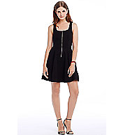 Zip Fit-and-Flare Tank Dress