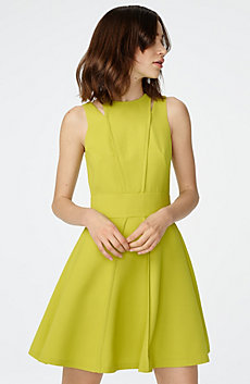 Cutout Shoulder Fit-and-Flare