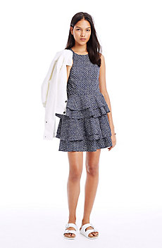 Tiered Fit and Flare Dress