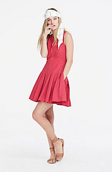 Zip Fit & Flare Dress